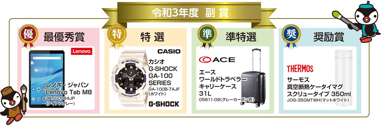 書道・交通安全ポスター コンクール 2021 副賞